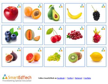 Nouns Fruits - SmartEdTech Printable Communication Cards