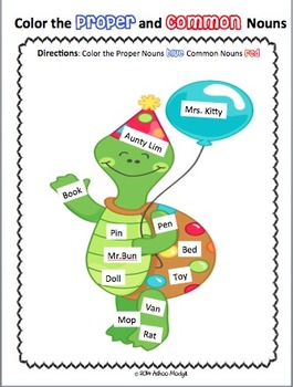 Common Nouns and Proper Nouns Sort