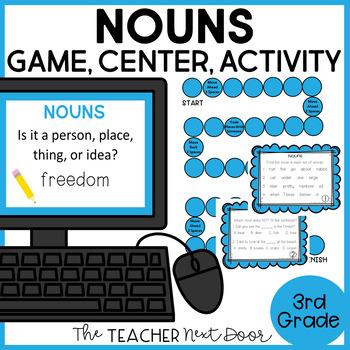 Nouns Game | Nouns Center | Nouns Activities