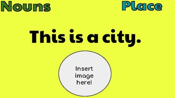 Nouns: Google Slides Template! (Literacy Centers)