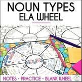 Nouns Grammar Wheel