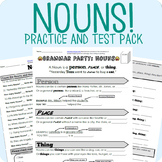 Nouns Grammar Worksheet Packet + Test
