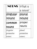 Nouns Interactive Notebook