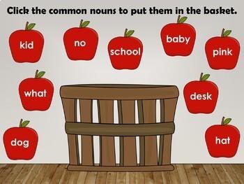 Nouns Interactive PowerPoint Lesson (common, proper, possessive)