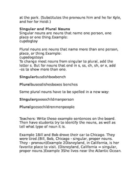 Nouns Lesson Plan 1