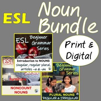 Nouns Mega Bundle: Plurals, Noncount Nouns ESL EFL ELL