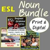 ESL Beginners Nouns Mega Bundle: Plurals, Noncount Nouns | Distance Learning