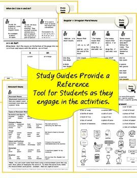 ESL Beginners Noun Mega Bundle: Plurals, Noncount Nouns | Distance Learning