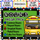 Nouns Mega Pack:  Task Cards, Printables, and Flip Flaps