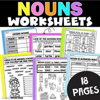 Noun Worksheets for First G... by Teaching Second Grade | Teachers ...