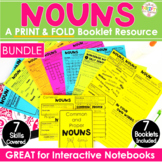 Nouns No Cut Interactive Notebook: Common, Proper, Plural, Irregular