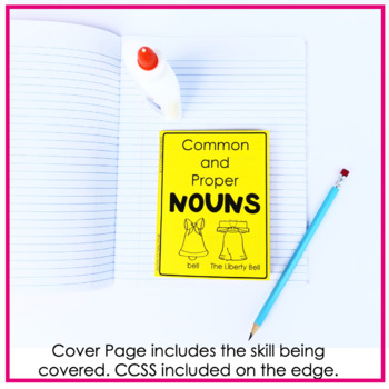 "Nouns ""No Cut"" Interactive Notebook: Common and Proper Nouns"
