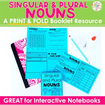 "Nouns ""No Cut"" Interactive Notebook: Singular and Plural Nouns"