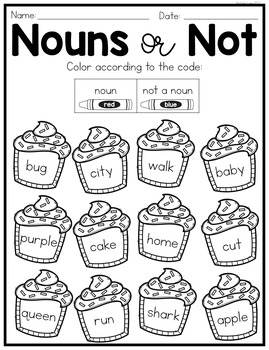 Nouns No Prep Worksheets