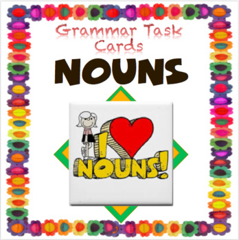 Nouns: Notecard Tasks (Differentiated - Blooms Taxonomy)
