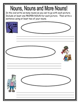 Nouns - October Fun Learning Activities