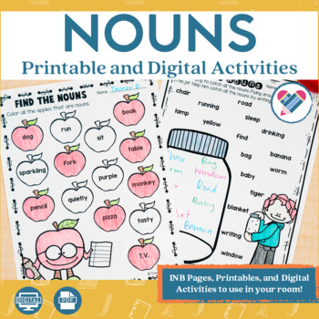 Nouns Printables and Interactive Notebook Templates