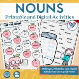 Nouns Printables and Interactive Notebook Templates DISTANCE LEARNING