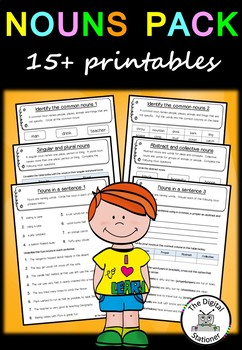 Nouns Pack (Parts of Speech) – 15+ worksheets