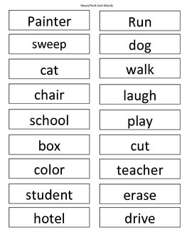 Nouns (Packet w/center work and games)