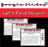 Nouns: Parts of Speech Grammar Passage Practice Google Sli