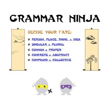 Nouns Parts of Speech Review Game PowerPoint - Grammar Ninja