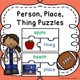 Nouns Person Place Thing Sort Game Puzzles Noun Sort with Pictures
