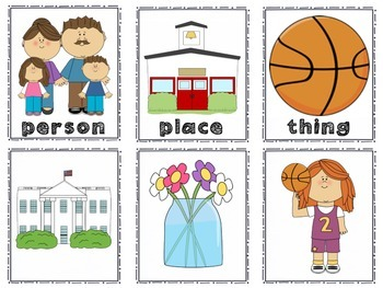 Nouns: Person, Place, or Thing