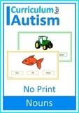 Nouns Picture Word Match NO PRINT Autism Special Education
