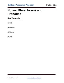 Nouns, Plural Nouns and Pronouns
