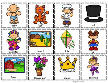 Nouns Pocket Chart Center and Printables