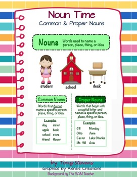 Nouns: Posters and Worksheets