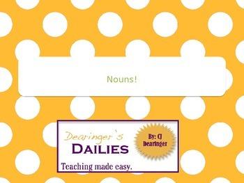 Nouns Power Point Presentation Week 2: Plural Nouns