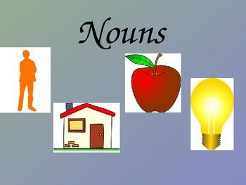 Nouns PowerPoint - Concrete/Abstract, Common/Proper, Collective/Compound Nouns