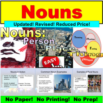 Nouns : PowerPoint Lesson and Exercise