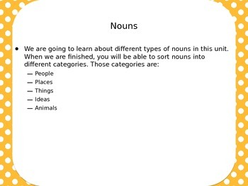 Nouns PowerPoint Presentation Week 1