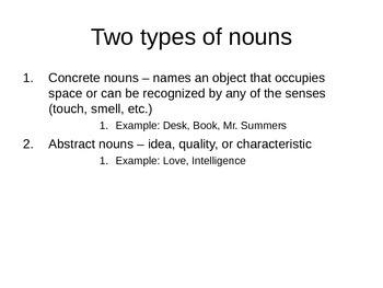 Nouns Powerpoint Presentation