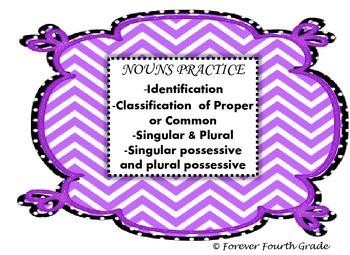 Common Core:  Nouns Practice...(Using Social Studies Content)