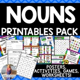 Nouns Printables: Activities, Games, Posters, Worksheets