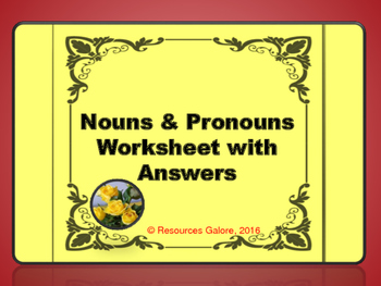 Nouns & Pronouns