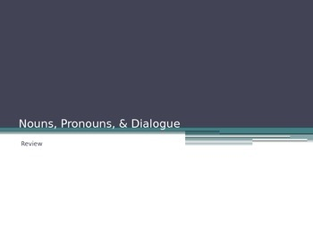 Nouns, Pronouns, & Dialogue Powerpoint
