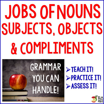 Nouns & Pronouns ~ How do they function in sentences? teac