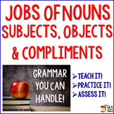 Nouns & Pronouns ~ How do they function in sentences? teach, practice, & assess
