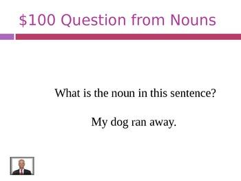 Nouns, Pronouns, & Past, Present, Future Tens Verbs Jeopardy!