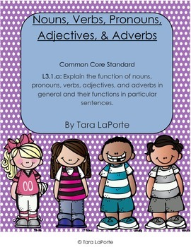 Nouns, Pronouns, Verbs, Adjectives, & Adverbs L3.1a