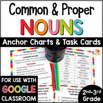 Common And Proper Nouns Task Cards And Anchor Charts 1645818 on Worksheets For Teachers