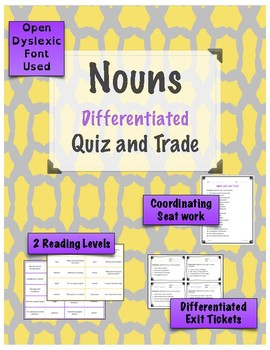 Nouns Quiz and Trade Game {Differentiated}