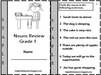 Nouns Review - A mini book