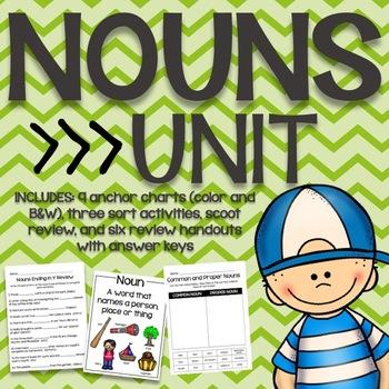 Parts of Speech: Nouns Unit