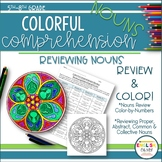 Nouns Review, Colorful Comprehension, Color-By-Number